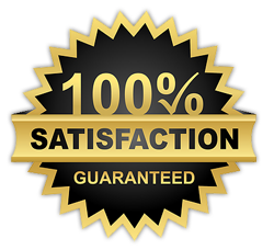 100% satisfaction black badge